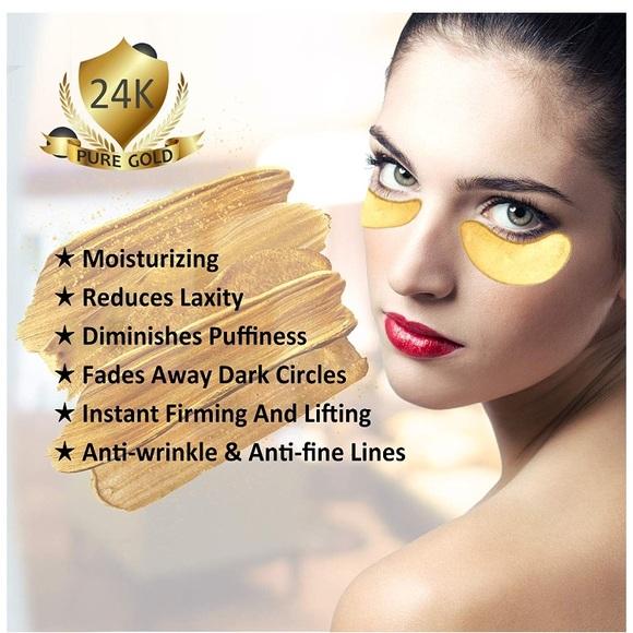 Elite Makeup 24k Gold Collagen Under Eye Mask Set Of 15 Pairs